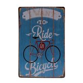 Estaño bicicleta firmar placa de metal de la vendimia decoración de la pared poster bar pub