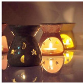 Ceramic Candle Holder Fragrance Oil Burners Lavender Aromatherapy Scent Gift