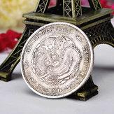 Oude Chinese Draakmunten Qing-dynastie Oude Zilveren Imitatie Muntstukken