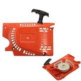 Recoil Pull Start Starter Rot Für Chinesische Kettensäge 4500 5200 5800 45cc 52ccm 58ccm
