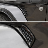 2Pcs Car Leaf Plate Air Inlet Trim Cover Moulding Trim Strip for Jeep for Wrangler JL 2018