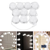10pcs Vanity LED Mirroir Dimmable Ampoules kit Cosmétique Maquillage Hollywood Style