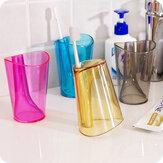 فرشاة الأسنان حامل المنزل أنتيسكالي مبتكرة الغرغرة الأسنان القدح كأس الأسنان الأسنان الزجاج اكسسوارات الحمام مجموعات