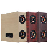 Wooden bluetooth 4.2 Wireless Speaker 4 Loudspeaker HiFi Wireless Music Player With TF AUX  Port