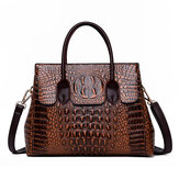 Women Retro Crocodile Pattern Handbag