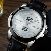 YAZOLE 418 Luminous Leather Strap Fashion Sport Men Watch