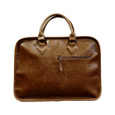 Men Business Cowhide Vintage Laptop Solid Leisure Briefcase