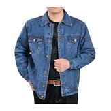 ПовседневнаямодаОсеннийхлопокClassicДжинсовая куртка для мужчин