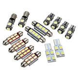 14 Pcs T5 Carro LED Interior Luzes de Leitura Festoon Dome Kit Lâmpada Substituição Branco para VW