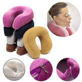 U Shape Rebound Memória Espuma Pillow Neck Protect Head Rest Travel Soft Almofada