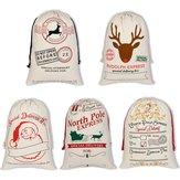 Grandes Decorações De Natal Da Lona de Santa Presente Bolsa Saco de Entrega Expressa Presente Stocking Bolsa