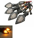 4pcs Universal Motorcycle Amber 10LEDs Turn Indicator Blinker Light Indicator