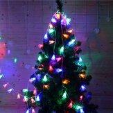 2M20المصابيحمهرجانالبطاريةبالطاقة اجراس سلسلة أضواء عيد الميلاد حزب في الهواء الطلق ديكورات داخلية عيد جرس فسطون ضوء ضد للم