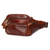 Men Vintage Waist Bag Outdoor Phone Crossbody Shoulder Bag Cycling Chest Bag