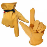 OZERO Waterproof Work Gloves Safety Garden Gloves Leather Welding Protective for Glass Handling L