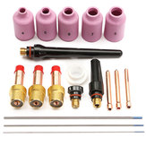 18Pcs TIG Welding Torch Gas Lens Kits For WP-17 WP-18 WP-26 Lanthanate Tungsten