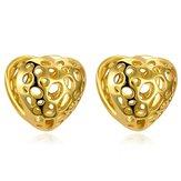 INALIS Trendy Altın Kaplama Küpeler Kalp Çilek Şekli