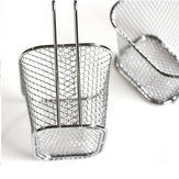 Honana HN-KT035 Electroplate Stainless Steel Mini Frying Basket Mesh Basket Strainer