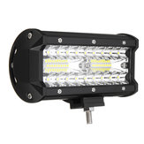 7 Inch Tri rij 40W LED werklampen Bars Flood Spot Combo Beam IP68 6000K voor Off Road Truck SUV