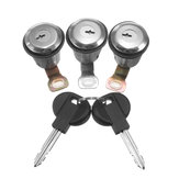 3Pcs Barrel Door Lock Cylinders Set w/ 2 Keys For Peugeot For Citroen Berlingo Xsara