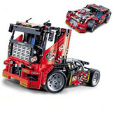 Decool 3360 608 stks Race Truck Auto 2 In 1 Transformeerbare Model Bouwstenen Speelgoed Sets DIY Speelgoed Met Doos
