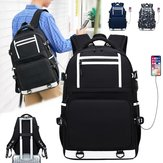 Oxford Cloth Waterproof Laptop Bag Backpack Travel Bag With External USB Charging Port