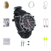 Multifunctional Compass Fishing Survival Watch Gear Bangle Parachute Cord Outdooors Survival Kit