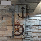 Nautical Decor Rustic Houten bord Plaque Wall Art Picture Lighthouse Ontwerp Anker