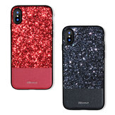 DZGOGO Diamond Bling PU Leather Protective Case for iPhone X