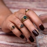 Gemstone 4 piece joint ring