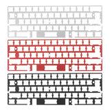 Alumínio placa placa quadro universal teclado mecânico para PCB RS60 gh60