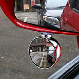 3R 70MM Car Right Side Blind Spot Rearview Mirror HD 360° Wide Angle Reversing Auxiliary Mirror