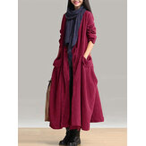 Карманы Lace-up Long Outerwear Coats