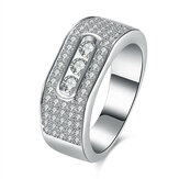 INALIS Zircon Gift Anniversary Wedding Finger Rings