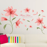 Pink Flower Wall Sticker Mural Decal Creative Home Removable Background Art Decor