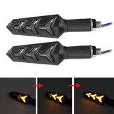 12V bursztynowy sekwencyjny płynący LED Wskaźnik kierunkowskazów Motocykl uniwersalny