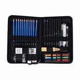 H&B HB-TZ65 48Pcs Sketching Pencils Set Art Supplies Sketch Tool Set Painting Pencil Professional Drawing Sketching Art Kit with Carrying Bag