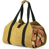 Log Carrier Wood Carrying Borsa Carrier per legna da ardere 16 once Tela cerata