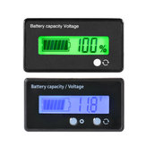 12V 24V 36V 48V 6V-63V LCD Voltmeter Lead-Acid Battery Capacity Indicator
