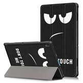 Tri-Fold Printing Tablet Case Cover for Lenovo Tab E10 Tablet - Big Eyes