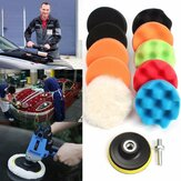 Car Waffle Buffer Polishing Pads 3/4/5/6/7 Inch Cleaning Sponge Waxing Boat Car Buffer Drill Wheel Removes Scratches