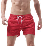 Mens Pure Color Beach Shorts