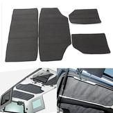 4pcs cinza hardtop som amortecedor calor escudo & kit de isolamento para 11-16 Jeep wrangler jk 4 portas