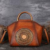 MulheresCouroGenuínoVintageTotemDesigner Handbag