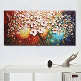 Hand-Painted Flower Tree Canvas Abstract Paintings Art Wall Poster Decor Unframed