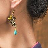 Ethnische Palastblume Vintage Ohrring aus legiertem Ohrschmuck