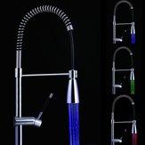 LED Banyo Musluklar Sıcaklık Kontrolü Spontan 3 Renkli Işık Şarj Sıcaklığı Sensör Mikser Lavabo Mutfak Bataryası Değiştirme Püskürtücüsü
