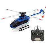 Xk K124 6ch brushless 3d6g EC145 rc helicóptero sistema orkut