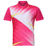 Mens Badminton Table Tennis Competitions Training Suit Sports Tops