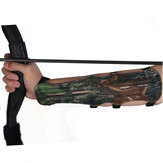Archery Arrow Bow Shooting Camouflage 4 Strap Adjustable Ultra Long Arm Guards Protector